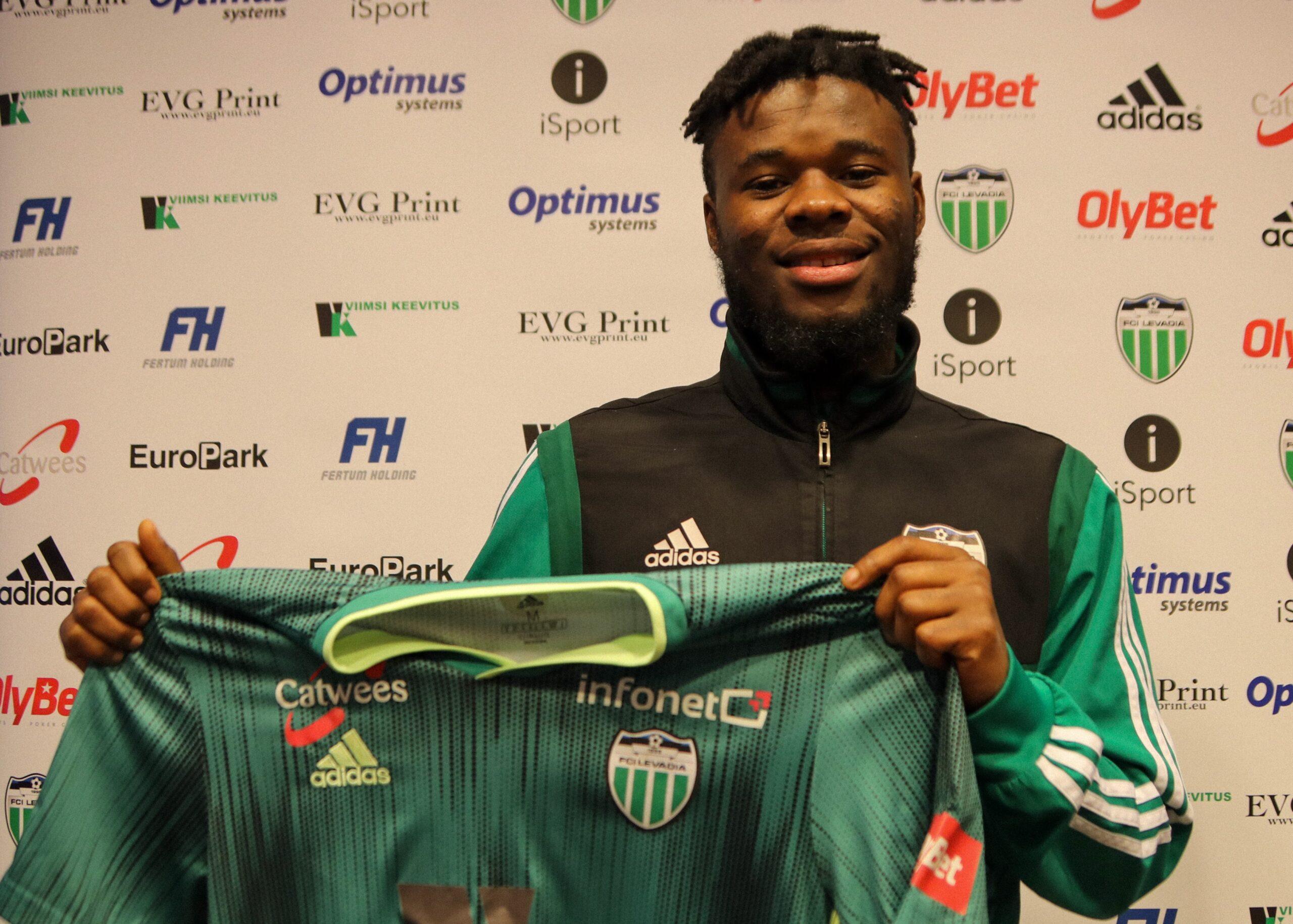 FCI Levadiaga liitus endine Manchester City U23 poolkaitsja Ernest Agyiri - FCI Levadia Tallinn